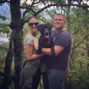 Dog tessa and family